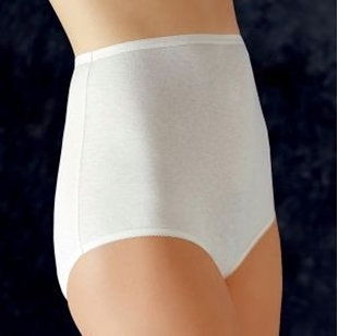 White tailored brief