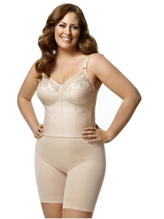Picture of Elila #5001 EMBROIDERED MICROFIBER LONGLINE SOFTCUP